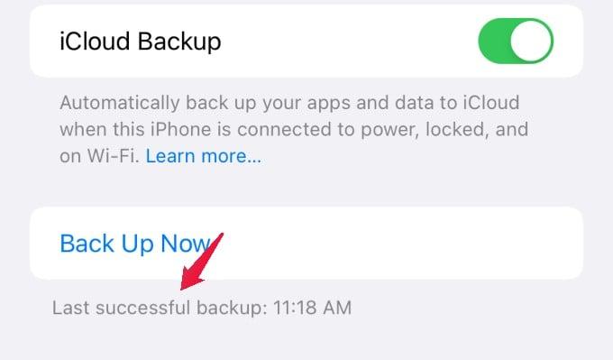 icloud backup status