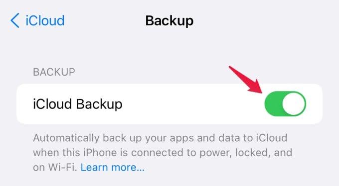 icloud enable automatic backup