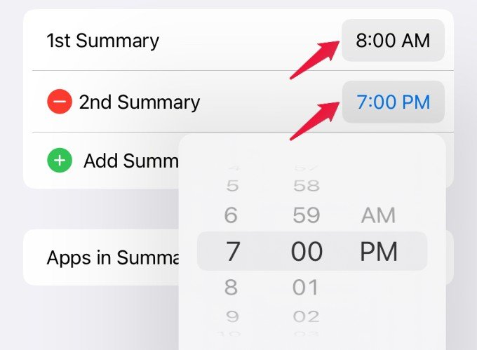 schedule time for notifications