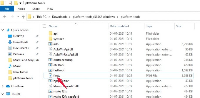 Fire TV Screenshot Stored Folder in Windows