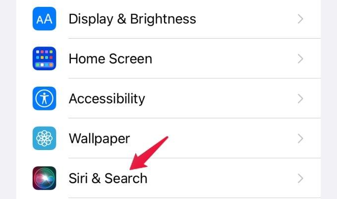 settings menu iphone