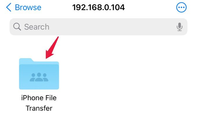 windows folder on iphone