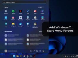 Add Windows 11 Start Menu Folders