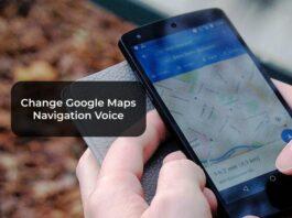Change Google Maps Navigation Voice