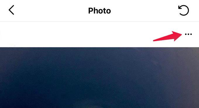 Deleted Post Menu Instagram