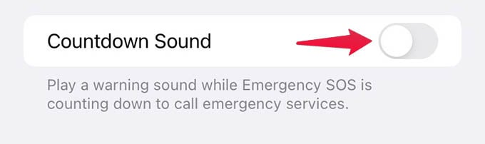 Disable iPhone Emergency Auto Calling Countdown Sound