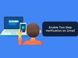 Enable Two Step Verification on Gmail
