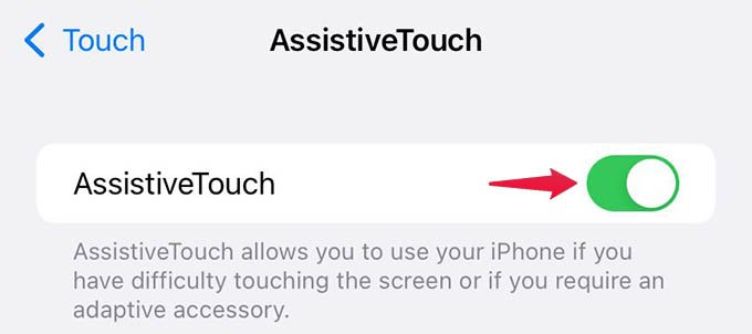 Enable iPhone AssistiveTouch