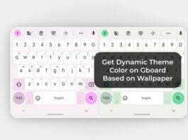 Get Dynamic Theme Color on Gboard Based on Wallpaper