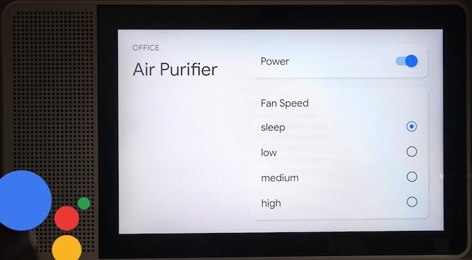 Google Home Meross Air Purifier