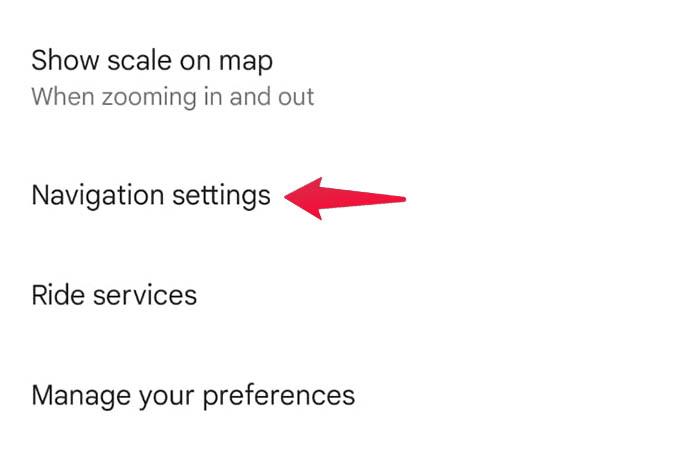 Google Maps Android Navigation Settings