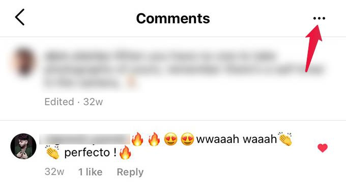 Instagram Comments Options