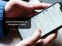 Limit Comments on Instagram Posts