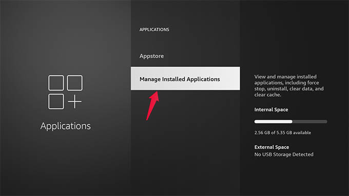 Manage Installed Applications in Amazon Fire TV