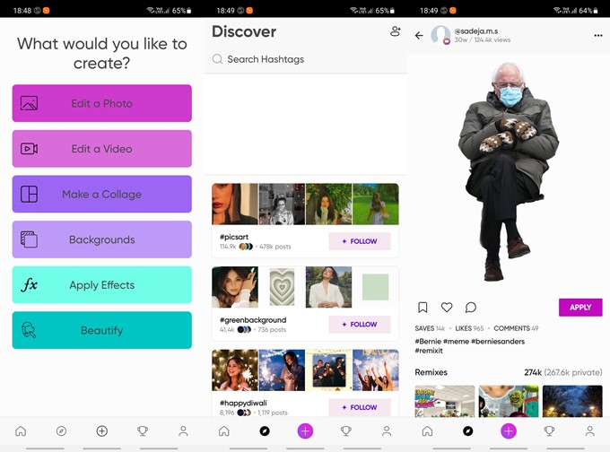 picsart image and video editor with meme making features