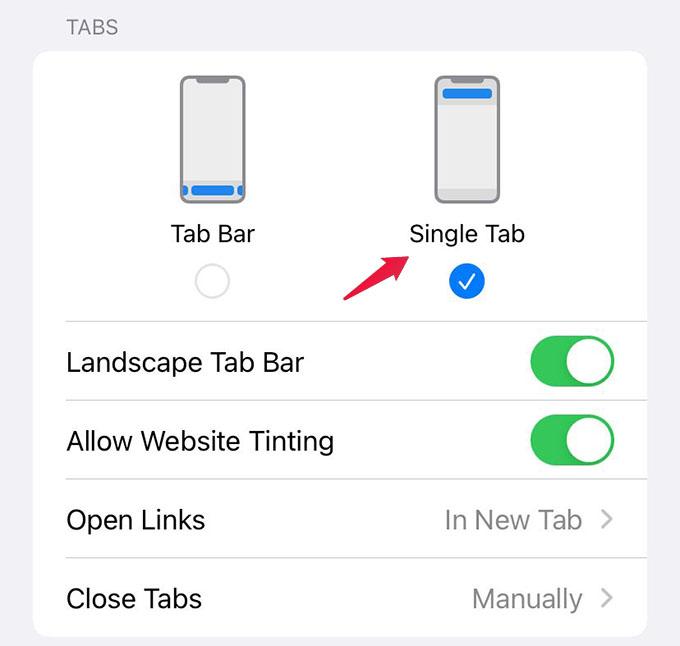 Move Address Bar to Top on Safari