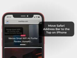 Move Safari Address Bar to the Top on iPhone