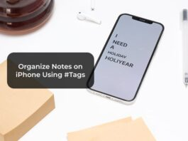 Organize Notes on iPhone Using Tags