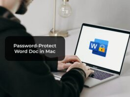 Password-Protect Word Doc in Mac