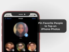 Pin Favorite People to Top on iPhone Photos