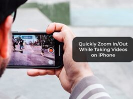 Quickly Zoom In/Out While Taking Videos on iPhone