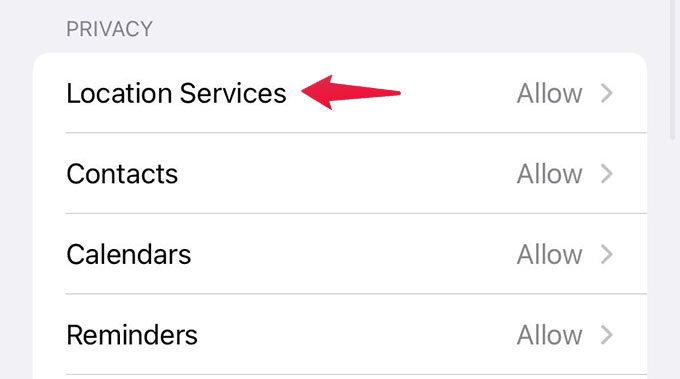 Restrict Location Services on iPhone