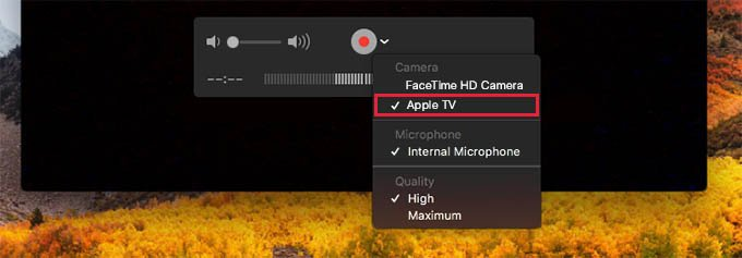 Screenshot or Screenrecord Apple TV Using QuickTime Player on Mac