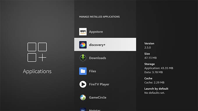Select an App to Delete on Firestick