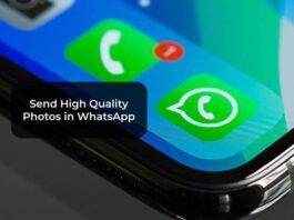 Send High Quality Photos in WhatsApp