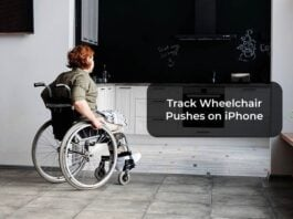 Track Wheelchair Pushes on iPhone
