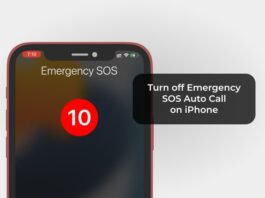 Turn Off Emergency SOS Auto Call on iPhone