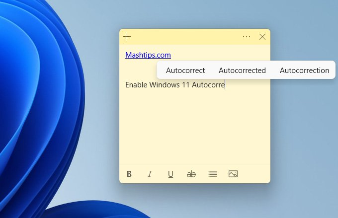 Windows 11 Autocorrect for PC