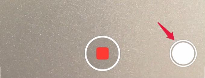 camera app shutter button in recording