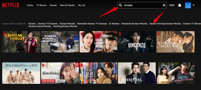 find content in netflix in different languages