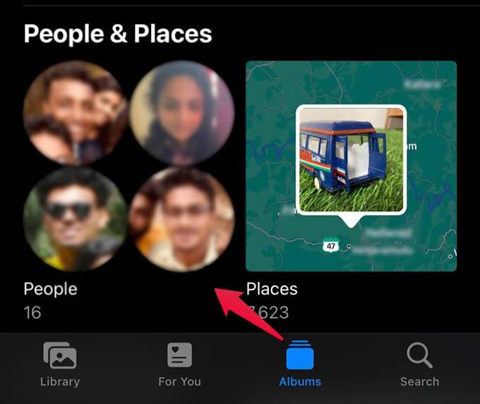 iPhone Photos People Album
