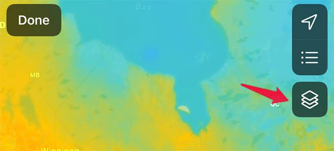 iPhone Weather Radar Map Layers