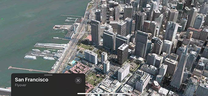 Apple Maps 3D Flyover of Cities