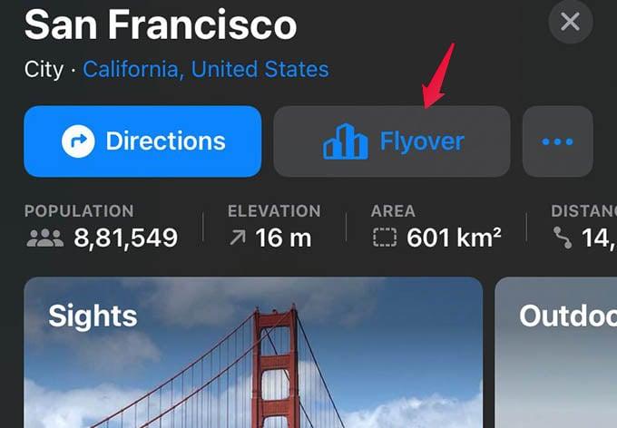 Apple Maps Flyover 3D Tour