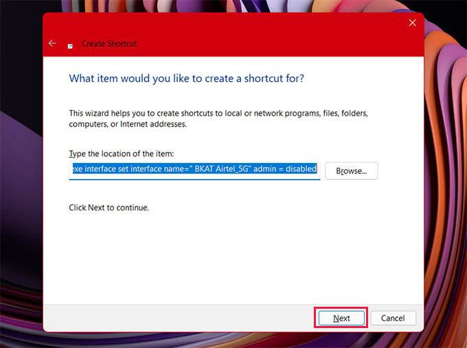 Create Internet Kill Switch Shortcut in Windows