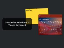Customize Windows 11 Touch Keyboard