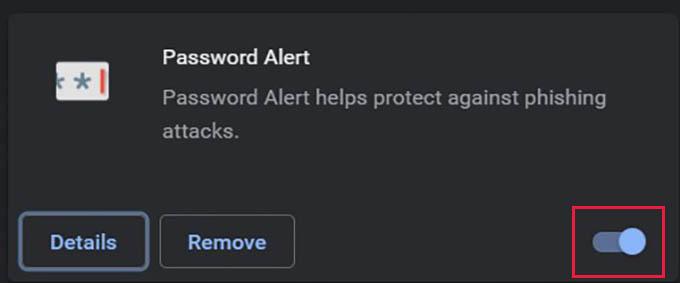 Disable Password Alert Chrome Extension