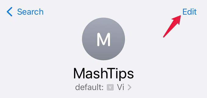 Edit Contact on iPhone