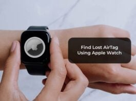 Find Lost AirTag Using Apple Watch