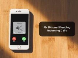Fix iPhone Silencing Incoming Calls