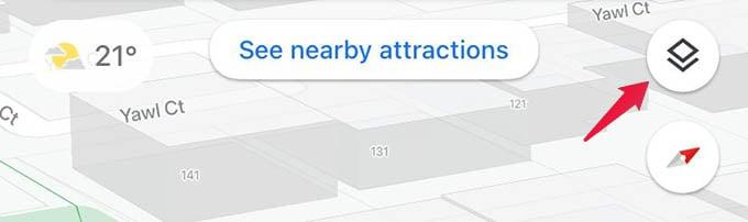Google Maps Layers Icon