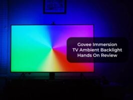 Govee Immersion TV Ambient Backlight Hands On Review