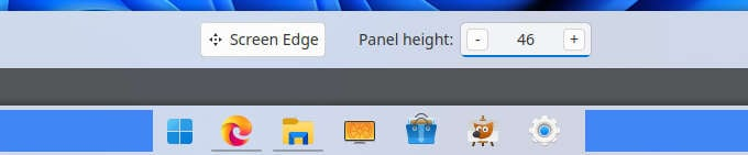 Windows 11 Center Taskbar icons on Linux
