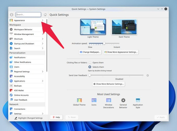 KDE System Settings app