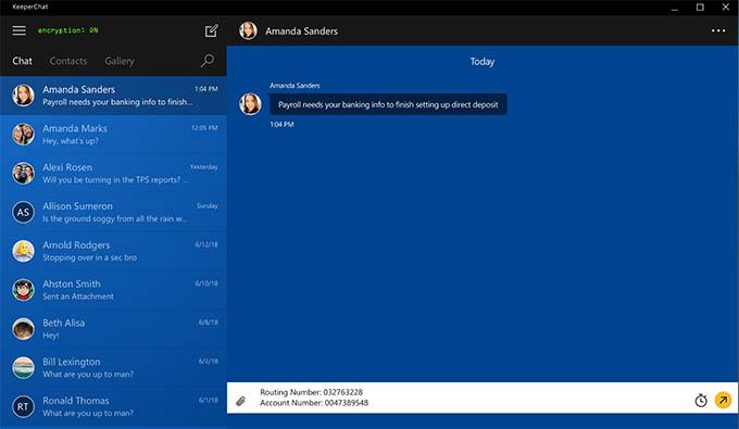 KeeperChat Windows App