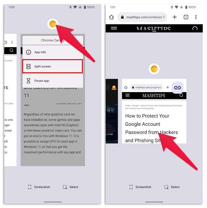 Using Multiple Chrome Windows on Android 12